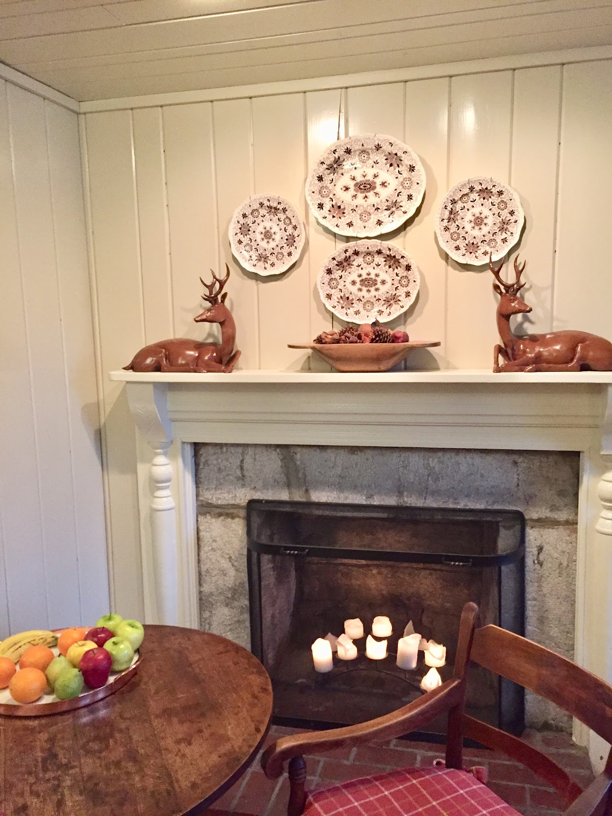 Old Fireplace With White Mantel