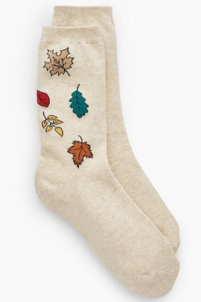 Talbots Falling Leaves Trouser Socks