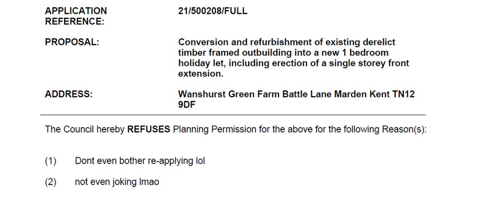 This application from Maidstone council in relation to Marden