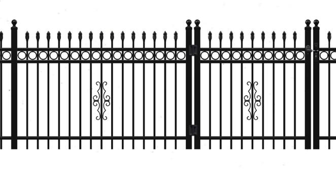 Traditional Style of aluminum fence with accessories