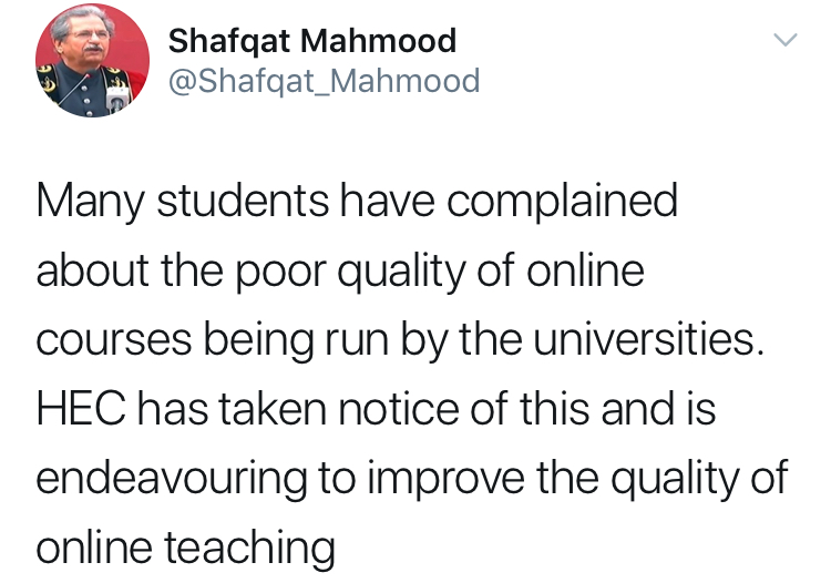Online classes and chaos — A failure of the education system in Pakistan?