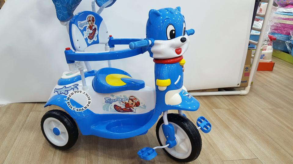 รถสามล้อเด็กหน้าแมวก้นใหญ่ สีฟ้า BCQB0002ML-4.png
