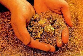 Золото в природе
