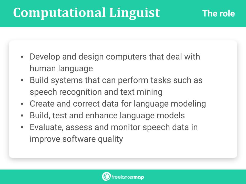 Tasks of a computational linguist