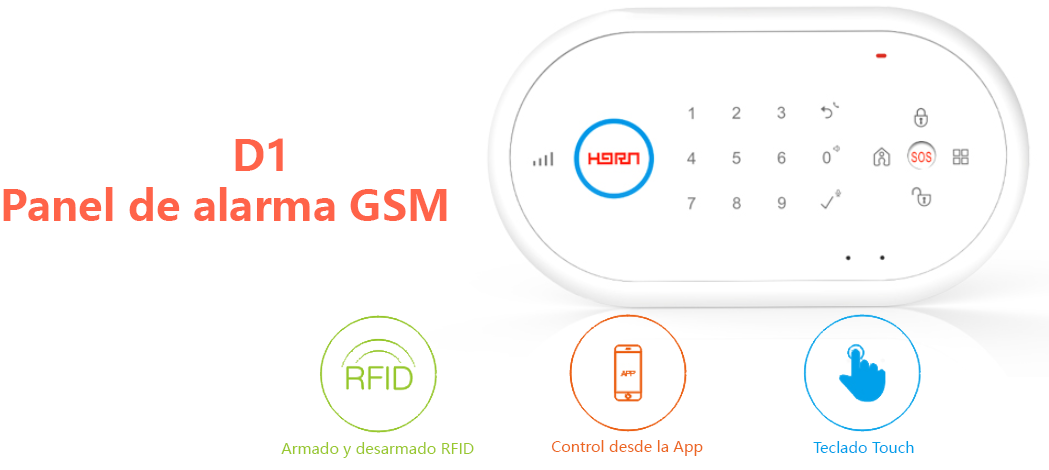 Horn d1 panel de alarma gsm 32 zonas inalambricas 2 - Sistema de alarma gsm ...
