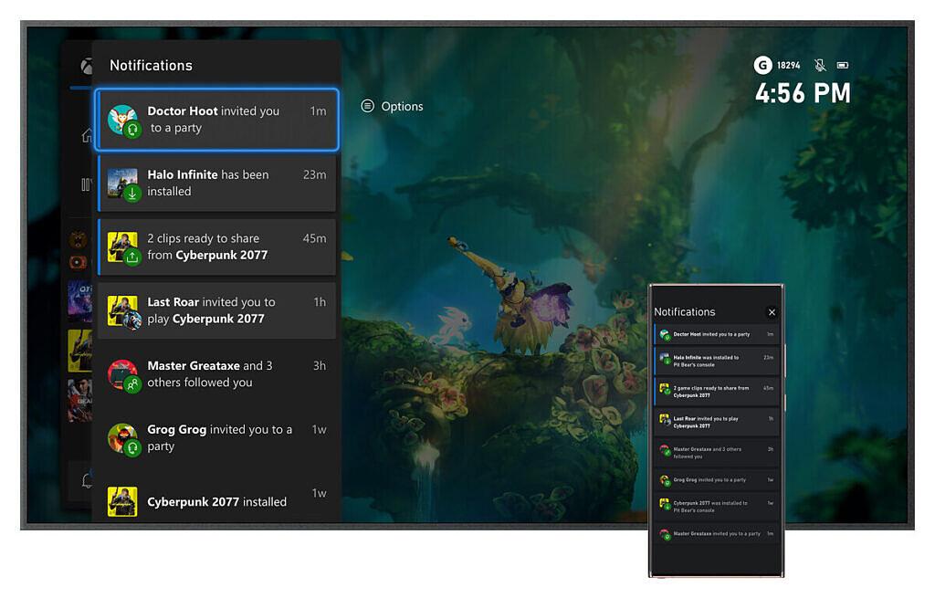 Objedinjena obavještenja o aplikaciji Xbox
