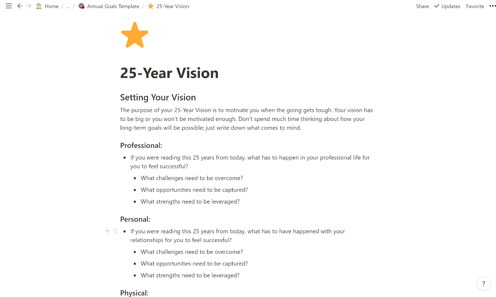 25-year vision Notion page