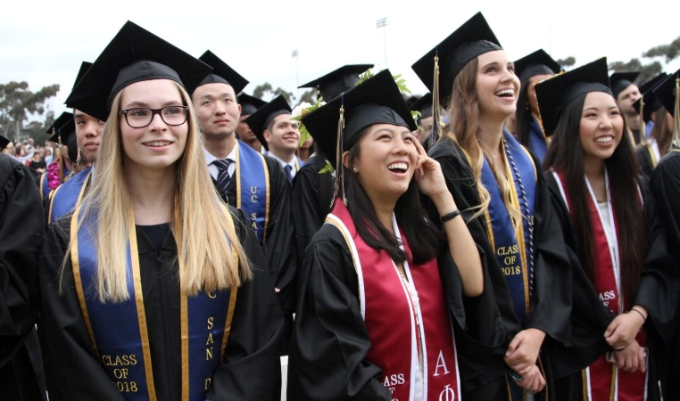 graduating students from UC San Diego