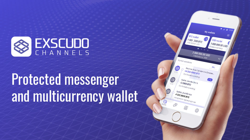 Exscudo Channels ETH wallet offers advantages like fast and cheap transactions within the network and integrated currency exchanger.
