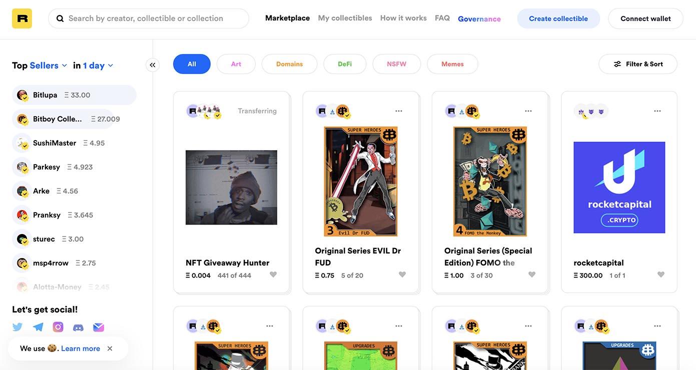 Rarible - creator-centric NFT marketplace