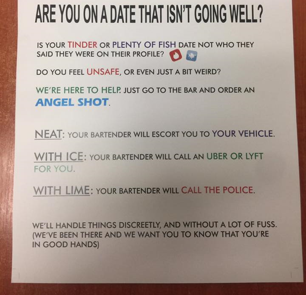 Bad Date Escape Sign