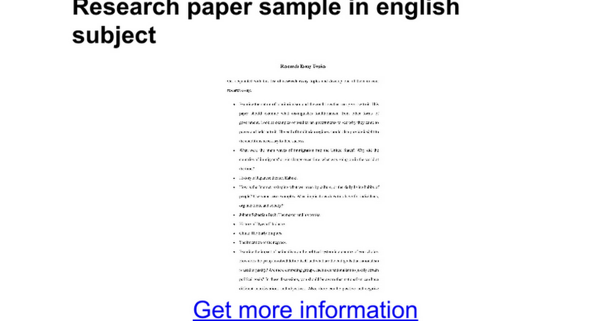 conclusion of a research paper example The conclusion consists of the summary + recommendations for further research critique in conclusion of paper example, in borage seed oil writing the.