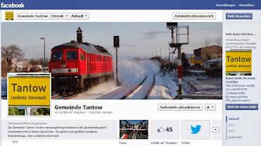 Auch die Gemeinde Tantow hat einen Facebookaccount (https://www.facebook.com/Gemeinde.Tantow) - er läuft wieder...