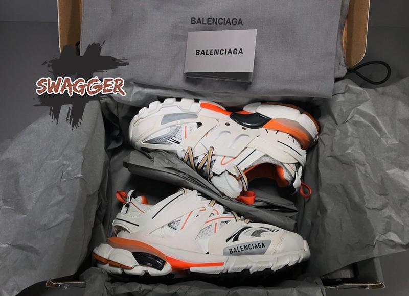 Balenciaga Track 3.0 White Orange Plus Factory tại Swagger