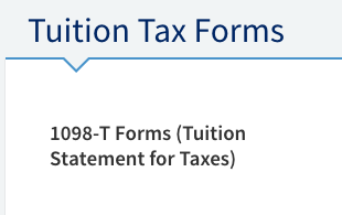 under tuition tax forms click on 1098 t forms tuition statement for taxes