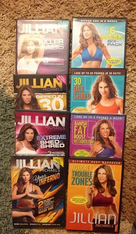 Collection of Jillian Michaels DVDs