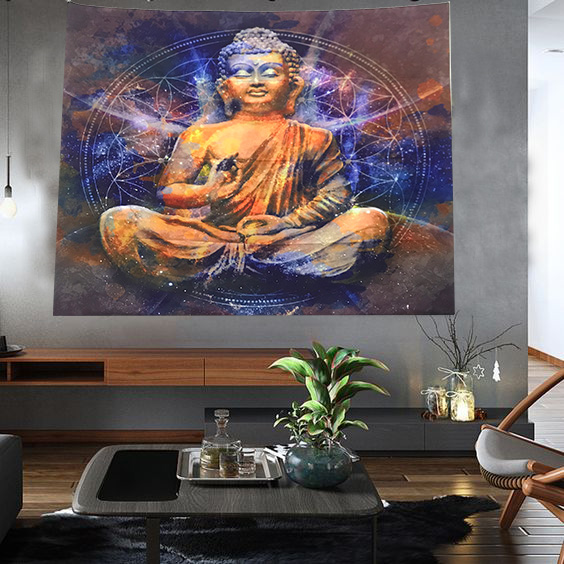 Tranh vải treo tường Phật A Di Đà trang trí sang trọng - Các loại tranh  khác   WebSoSanh.co