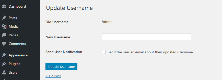 WordPress Username