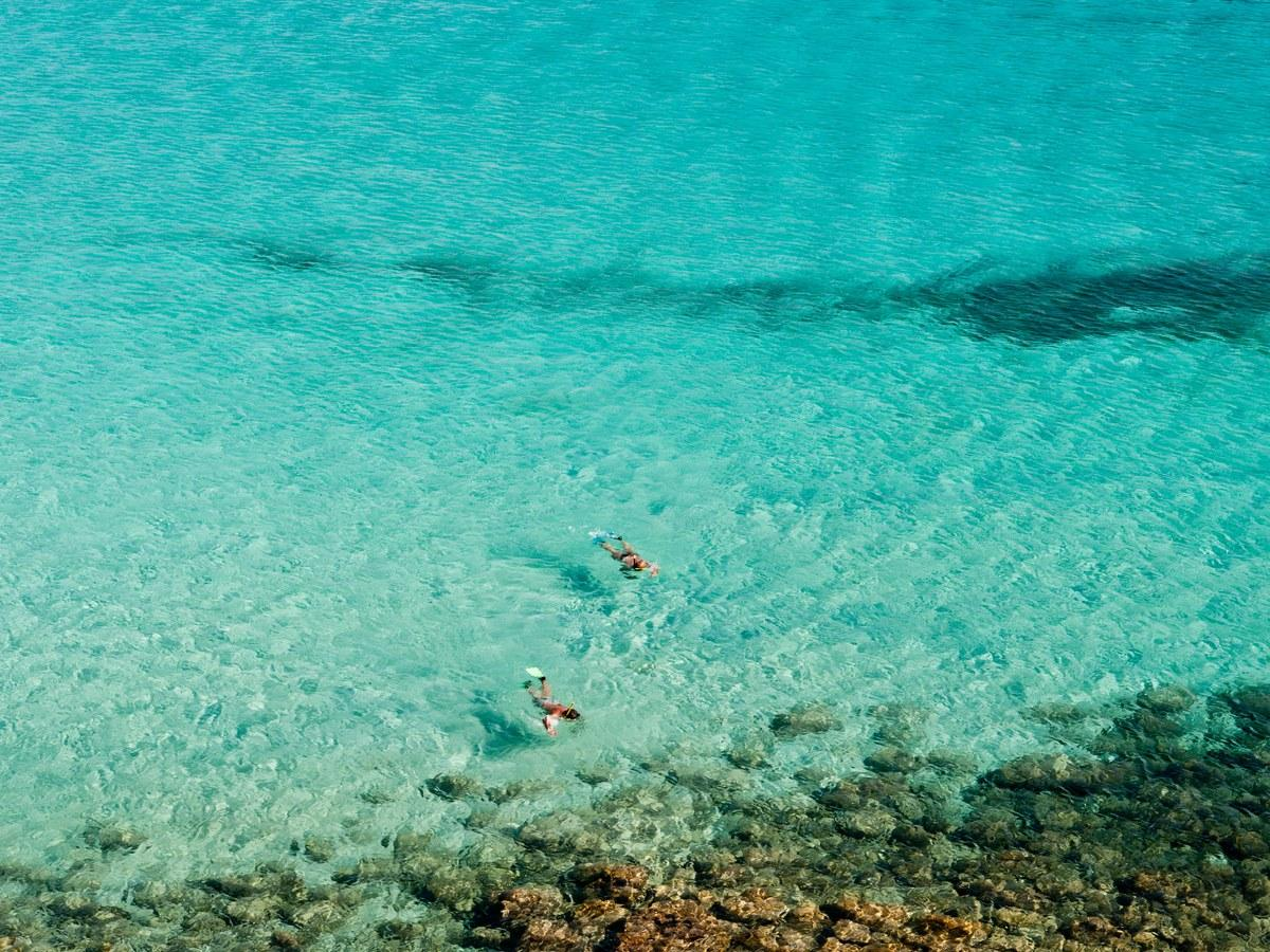 """The """"Beach of the Rabbits"""" on the island of Lampedusa's south side is one of the most dazzling spots not just in Italy, but in all of Europe, with aquamarine water perfect for snorkeling, and blindingly white sand for sun worshipers."""
