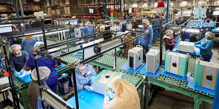 Dây chuyền sản xuất máy tính Mac của Apple