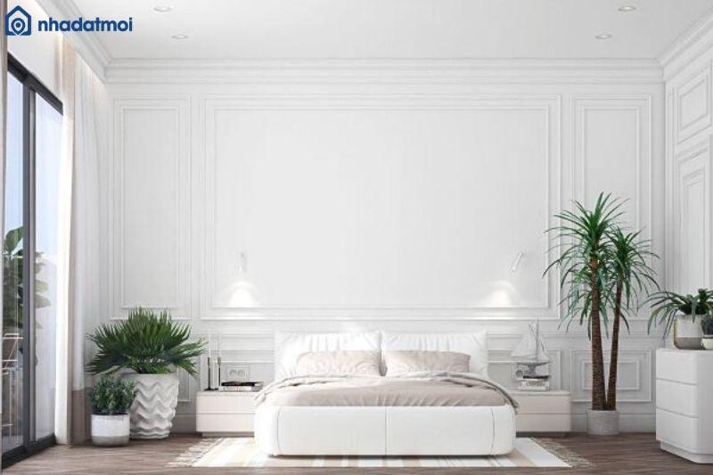Trang trí phòng ngủ bằng cây xanh giúp không gian tràn đầy sức sống