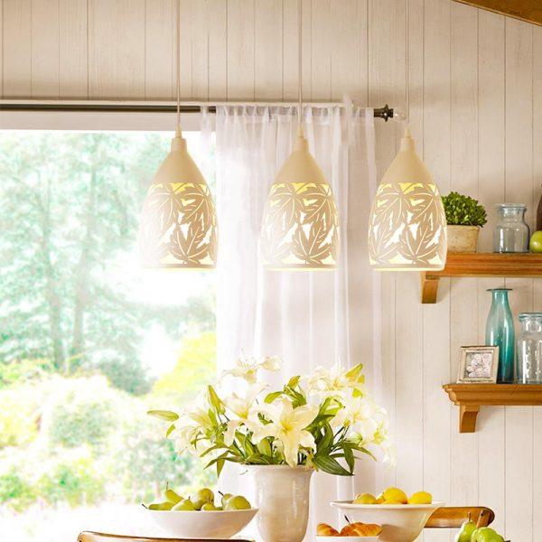 Đèn thả bàn ăn khắc 3 bóng đẹp và hấp dẫn
