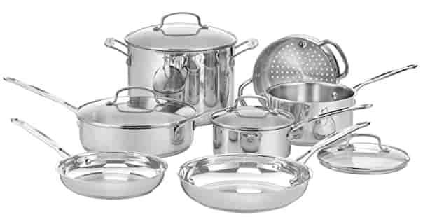 Top Rated Stainless Steel Cookware. this pic show that the Top Rated Stainless Steel Cookware 11G Chef's set