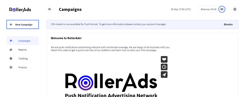 Обзор рекламной сети RollerAds: монетизация сайтов и качественный push-трафик