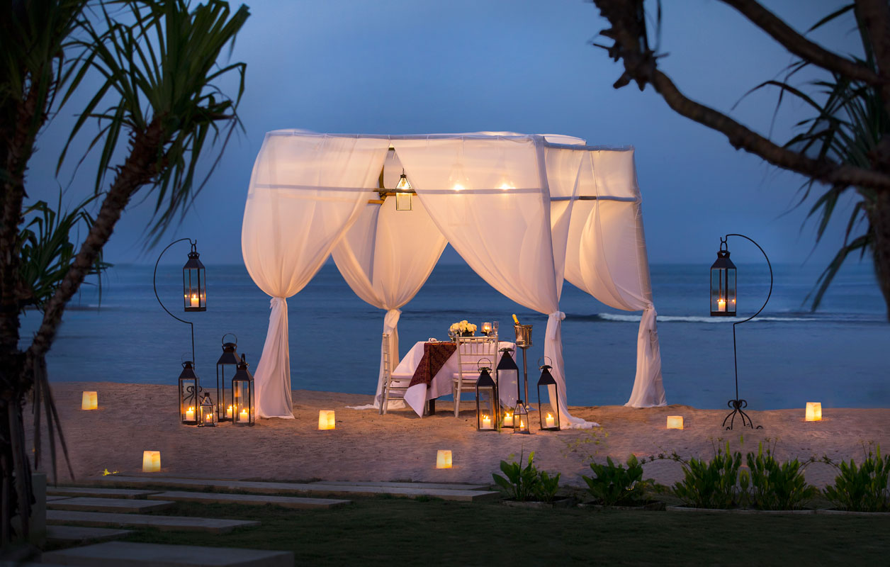 a candle light dinner- Nusa Dua