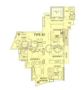 Cuscaden Residences - Configuration B1