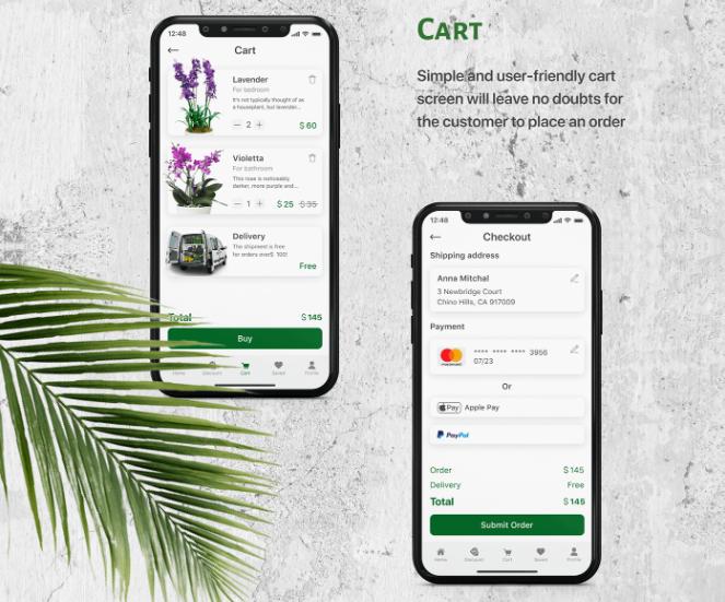 e-Commerce App Design: Tip 4. Shopping Cart