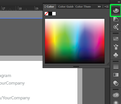 Use the selection and color tools in Illustrator to change colors