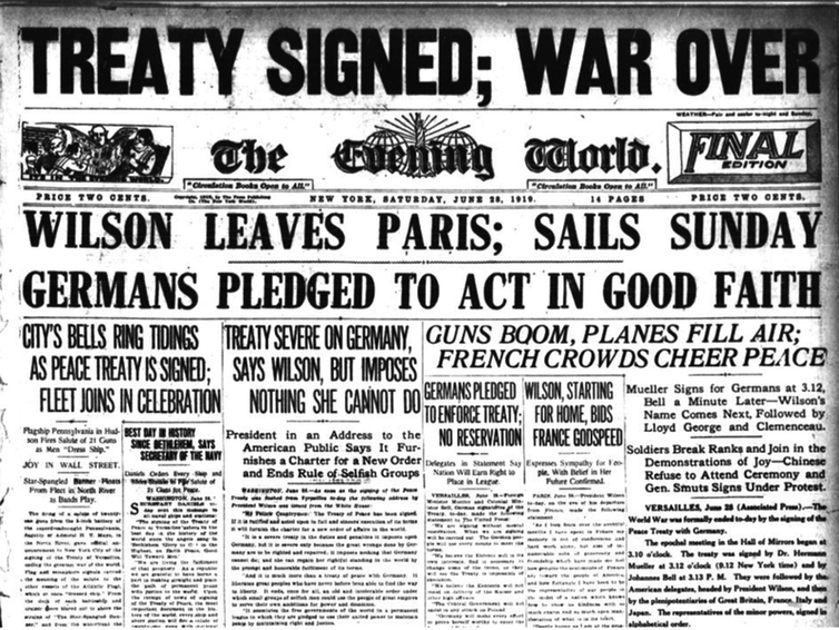 Image result for ww1 treaty of versailles