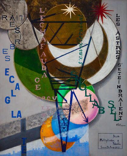 Suzanne Duchamp, Multiplication brisée et rétablie, 1918-1919, huile et feuille d'argent sur toile, The Art Institute of Chicago