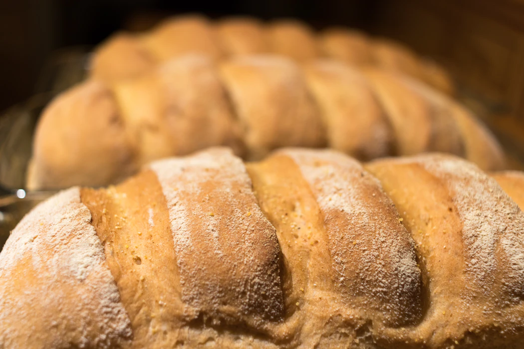 Close up shot of bread as an example of carbs