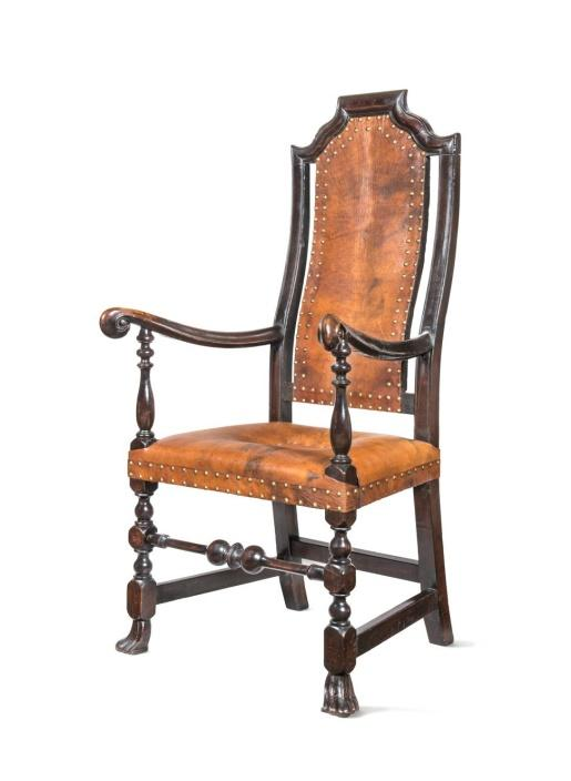 A chair mounted with Russia leather by the Winterthur Museum of Delaware. Photo: Courtesy of Winterthur Museum