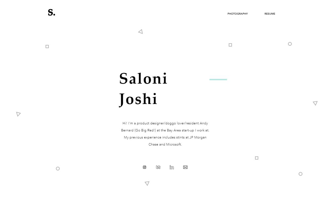 Saloni Joshi's personal website