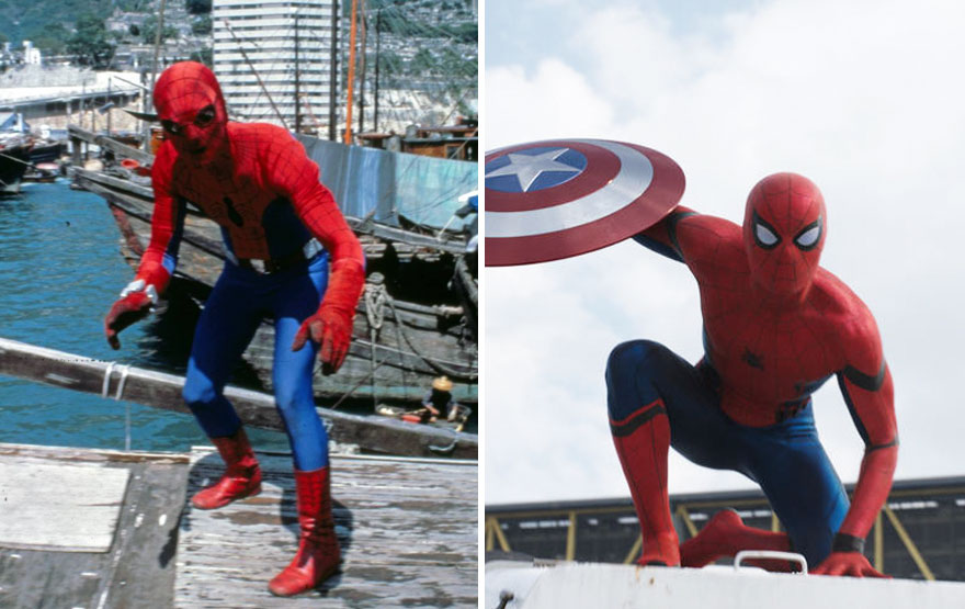 El antes y después de algunos superhéroes y villanos