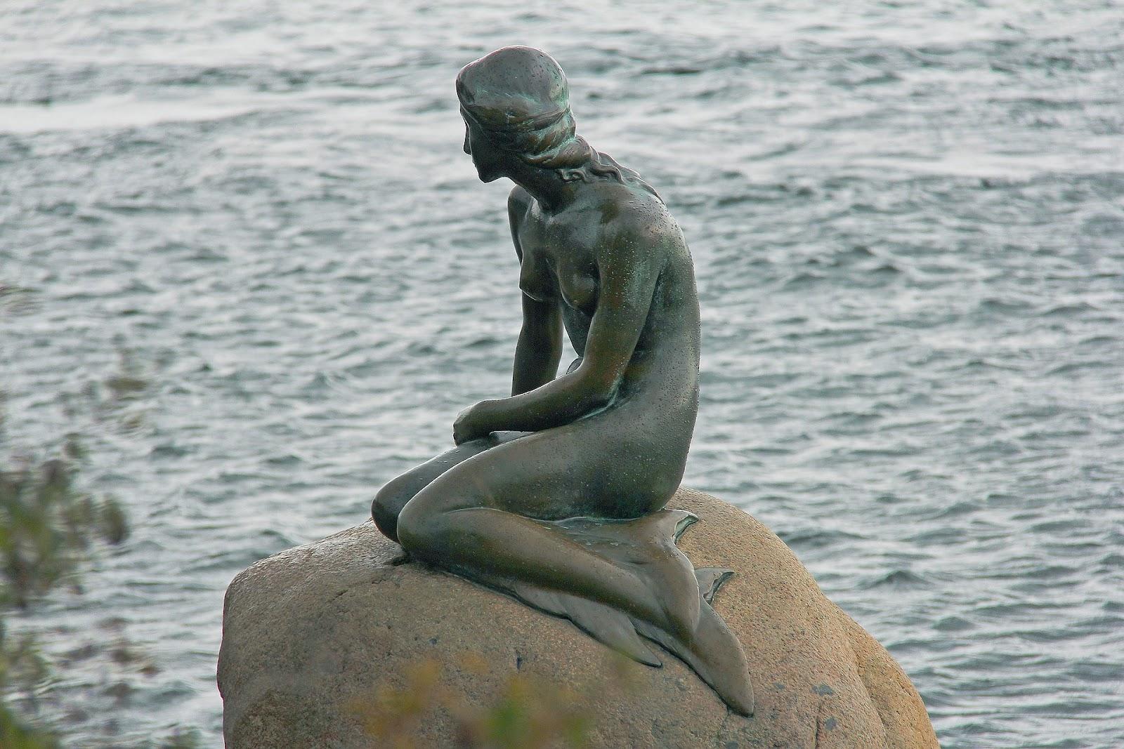 The Little Mermaid Statue in Copenhagen is a nod to Hans Christian Andersen's classic fairy tale story.