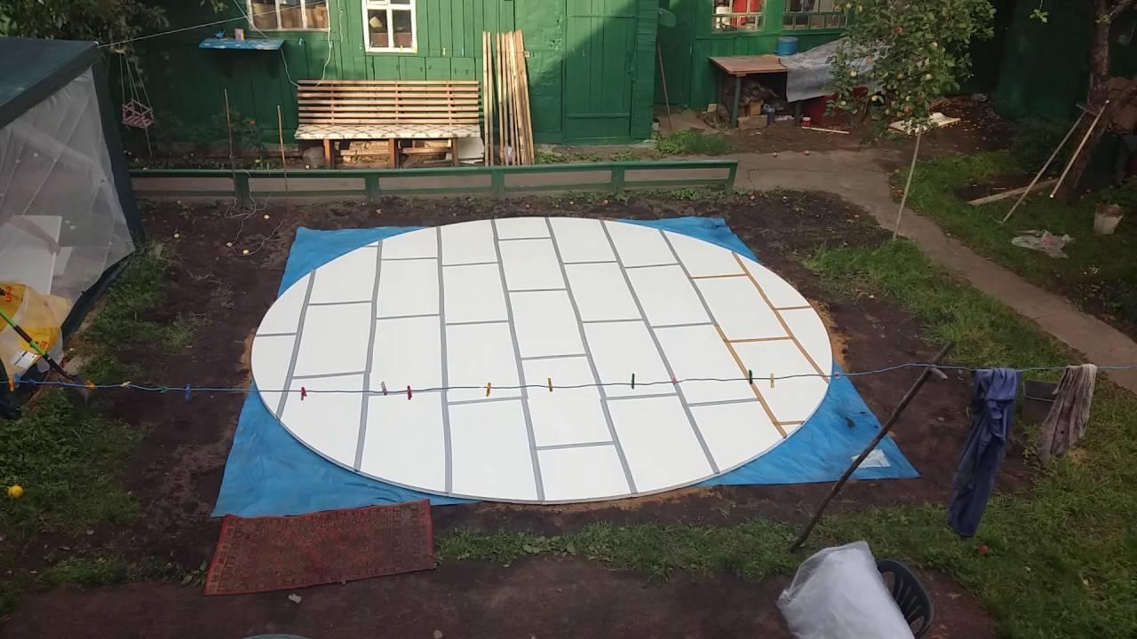 Картинки по запросу подготовка места установки каркасного бассейна своими руками