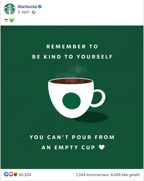 facebook social media post idee von starbucks coffee