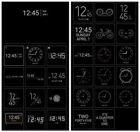 App ClockFace, da Samsung, adiciona novos relógios para o Always on