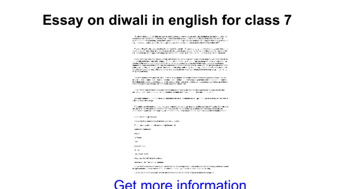Essay On Diwali In English For Class   Google Docs