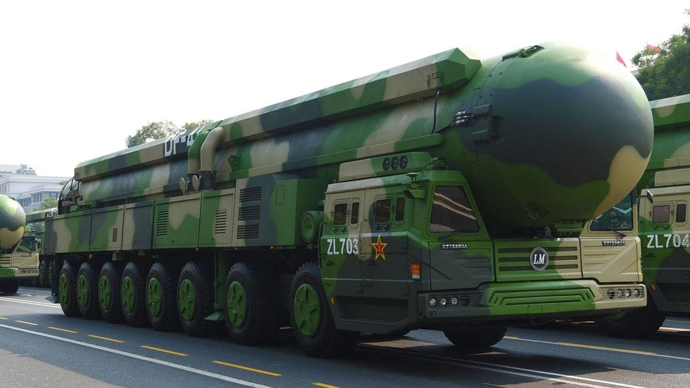 BEIJING, Oct. 1, 2019 -- The formation of Dongfeng-41 nuclear missiles takes part in a military parade celebrating the 70th anniversary of the founding of the People's Republic of China in Beijing, capital of China, Oct. 1, 2019.