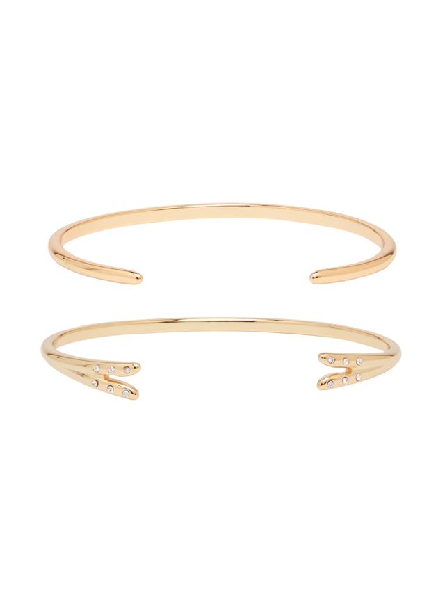 fashion for women over 50 - Michelle Campbell Gold Talon Bracelet Set