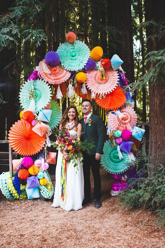 Bold and bright wedding decor