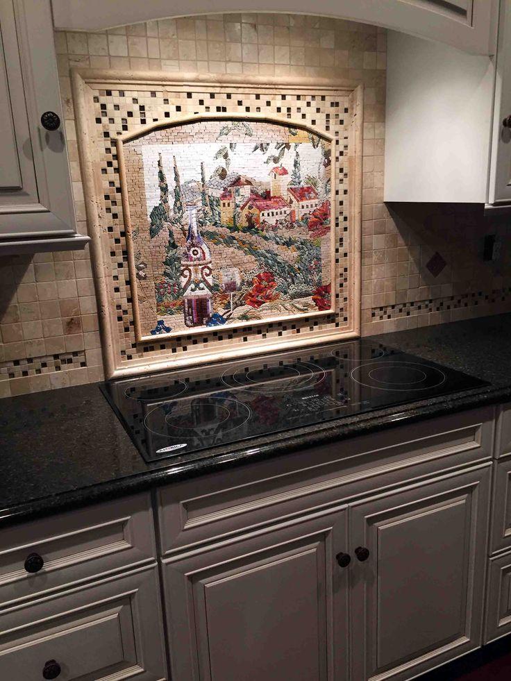 Tuscan Village Mosaic Kitchen Tile by Mozaico