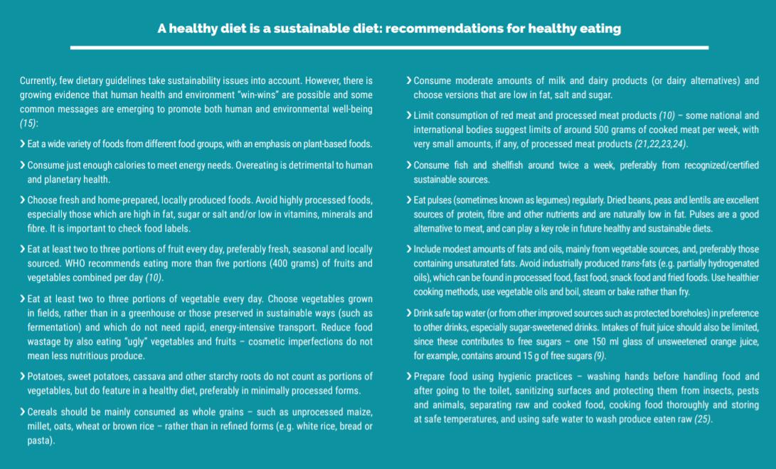 Sostenibilità alimentare: i consigli della FAO