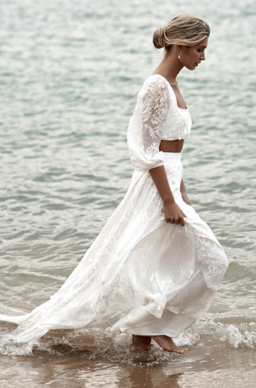 two piece wedding gown by grace loves lace