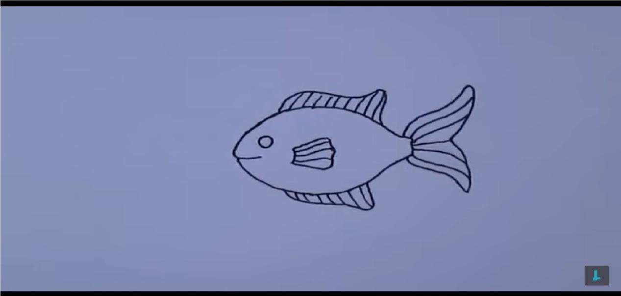 como dibujar un pez kawaii